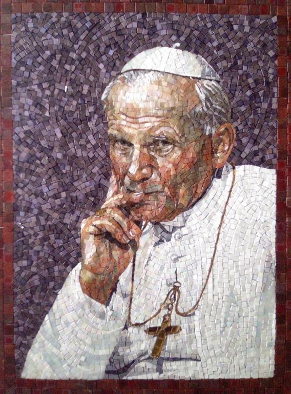 Pope+John+Paul+II+mozaika+artystyczna+szklana+mosaic+art+glass